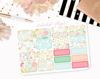 Summer Blossom - Floral Planner Stickers // Half Box Designs // Perfect for Erin Condren Vertical Life Planner