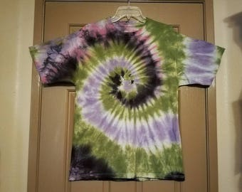 "Size large: ""Dimensional Anthology"" Impromptu tie dye shirt #10"