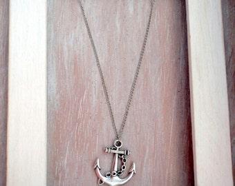Anchor-silver anchor chain Necklace-Marine-Mediterranean Sea-