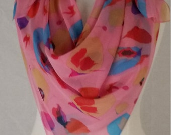 Pink French Silk Scarf