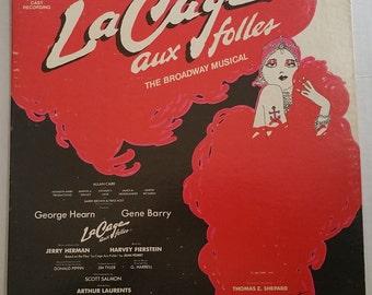 LA CAGE Aux FOLLES Lp Original Cast Recording Vinyl Record 1983 Ex/Vg (The Broadway Musical) Gearge Hearn Harvey Fierstein Gene Barry