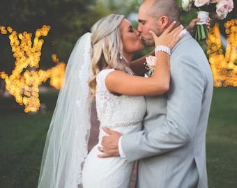 Lace Wedding Veil-Eyelash Lace