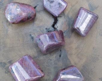 Ruby Tumblestone, Crystal Healing, Reiki Healing, Chakra Stones, Crystal Grid, Divination Tools, Meditation Crystal, Altar Crystal.