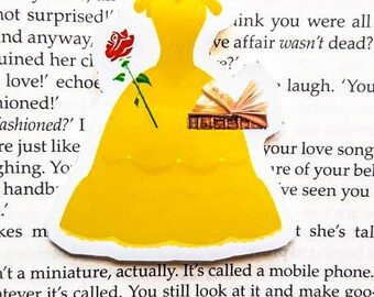 Beauty and the Beast dress magnetic bookmark
