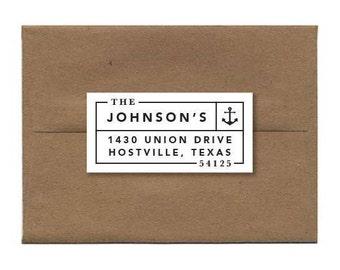 Custom Address Labels, Nautical Address Stickers, Anchor Return Address Label, Anchor Address Stickers - Set of 18