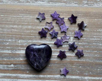 Healing Gift , Amethyst Heart , Emotional Healing , Protection , Courage , At This Difficult Time , In Sympathy , Woman Gemstone Gift.