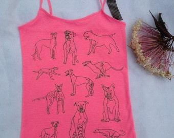 Pit Bull Tee Shirt- Greyhound Tee Shirt- Pit Bull Tank- Greyhound Tank- Greyhound Gift- Pit Bull Gift- Dog Rescue Tee Shirt- Dog Tee Shirt-