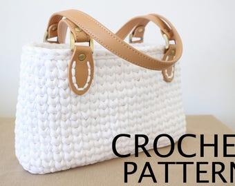 Crochet Bag Pattern, Purse Tutorial, Crochet Purse Pattern, Personalized Gift, Easy Crochet Pattern, Crochet Purse Pattern, Crochet Patterns
