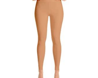 Persian Orange Leggings - Workout Wear, High Waisted Yoga Pants for Women