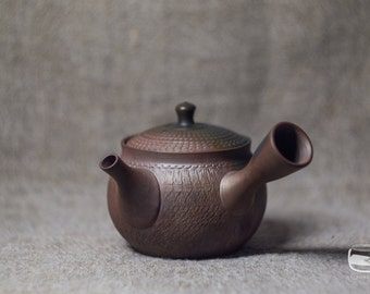 Teapot - Japanese kyusu side handled teapot, Tokoname ware, handmade *TP008