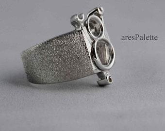 V8 Engine Ring - Handmade Car Jewellery / 925 Silver Handmade V8 Logo Ring - Free Standart Shipping Worldwide