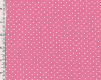 Lakehouse Polka dots - Per Yard- Lakehouse - Grey - No Pam Kitty Here! Pink