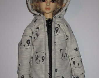 Sweat jacket for BJD doll in MSD, 1/4 size