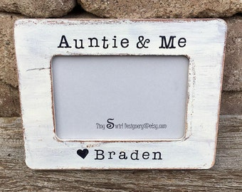 aunt frame aunt from child gift for aunt auntie gift custom picture frame new mom gifts baby shower gifts
