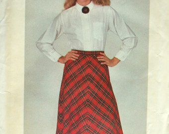 Uncut 1980s Butterick Vintage Sewing Pattern 3444, Size 16; Misses' Skirt