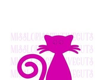 Cat Rhinestone template  SVG   cut file  t-shirtsscrapbook vinyl decal wood sign cricut cameo Commercial use