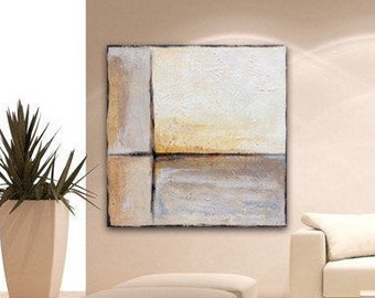 Large Wall Art Modern Contemporary Art, Original Painting Wall Art Canvas Art Earthtones Acrylic Painting with Texture by Sonja Alfreider
