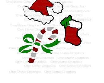 Christmas svg,Santa hat svg,Candy cane svg,Stocking svg,Christmas,Holiday svg,Santa hat,stocking,candy cane, svg,cut file,svg files,cut file