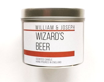 Wizard's Beer-Scented Tin Candle Harry Potter Butterbeer Inspired Scented Candle      Bookish gifts, Harry Potter gifts, Bookish Candles