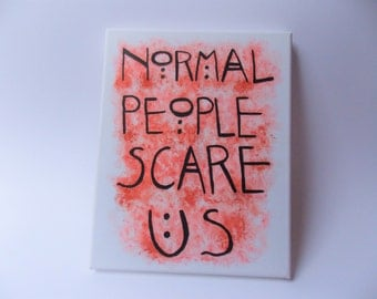 Freak Show Inspired Canvas