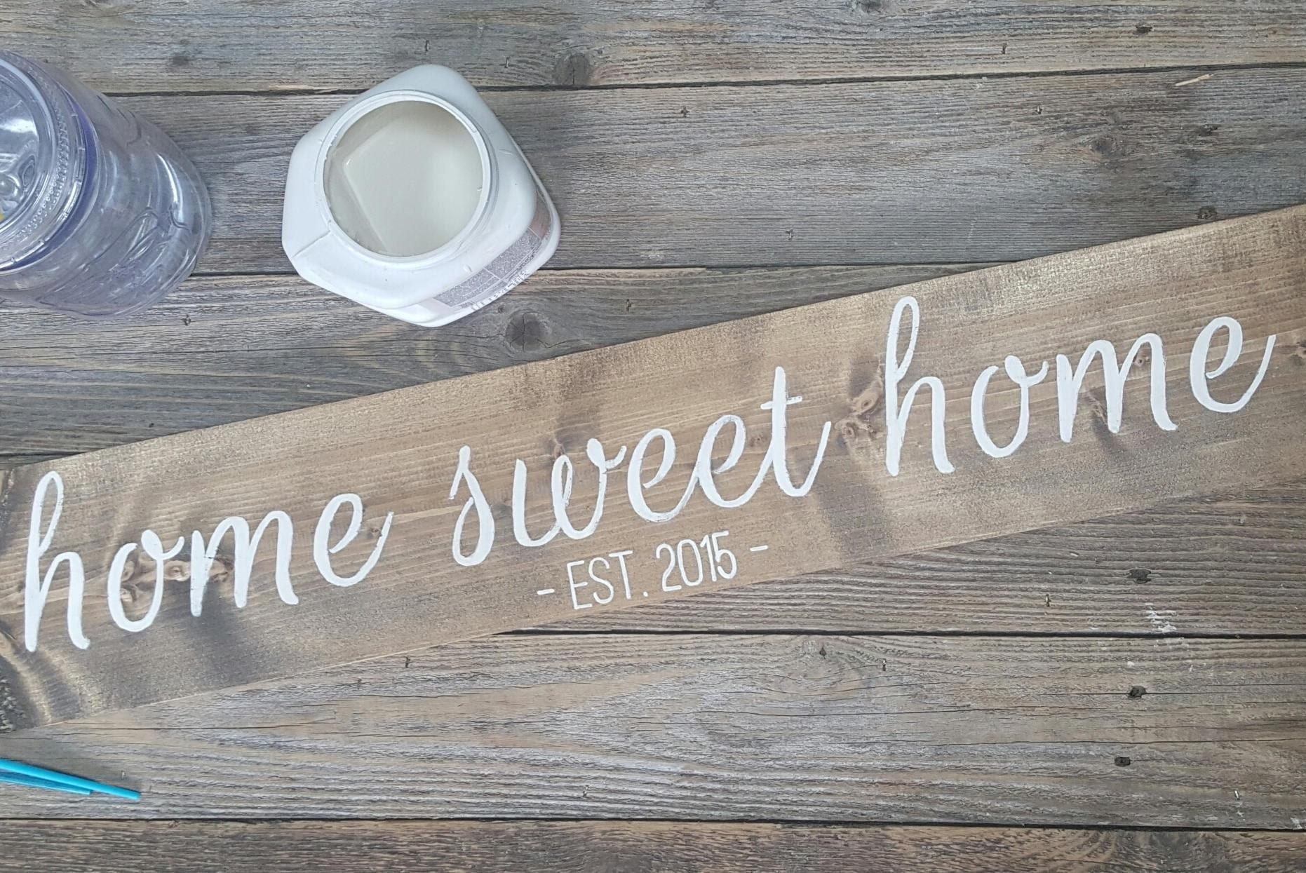 home sweet home established sign new home sign home decor wooden sign - Custom Signs For Home Decor