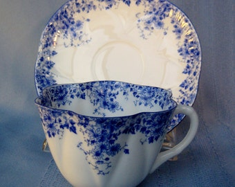 Shelley Dainty Blue Bone China Cup & Saucer