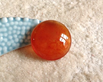 Cabochon 25mm orange translucent painted A hand / cabochon round glass magnifying glass / pendant cabochon/scrapbooking