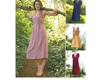 Simplicity 8231 H5 US Size 6 - 14 Sewing Pattern New & Unused Womens Dress in Two Lengths DIY Clothing Elastic Stretch Sleeveless Casual