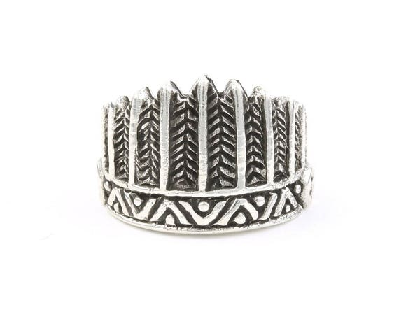 Feather Headdress Ring, Sterling Silver Ring, 925, Boho, Gypsy, Festival Jewelry, Hippie Jewelry, Southwestern, Spiritual