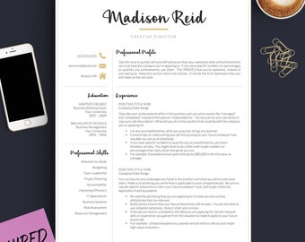 The Best Resume Builder Black Resume  Etsy Good Resume Excel with Resume Objective Statement Examples Excel Modern Resume Template For Word  Pages    And  Page Resume  Medical Assisting Resume Pdf
