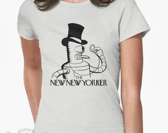 New New Yorker parody logo tee T-shirt