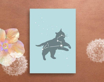 Pet Loss Printable Card - Cat Loss, Pet Condolences, Rainbow Bridge, Pet Memorial, Pet Sympathy Gift, Loss of Cat, Leo Constellation