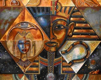 Ancient Egypt 2 - Egyptian Art - Handmade Oil Painting On Canvas