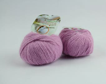 2 balls of Angora yarn, Lilac angora yarn, Italian Yarn, Winter Yarn, Knitting Yarn, Crochet Yarn, Fluffy yarn, Lilac yarn, Yarn for baby