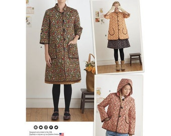 """Sewing Pattern for Dottie Angel """"Granny Chic"""", Boho Misses Sizes 6- 24, Misses' Coat and Jacket, Simplicity Pattern 8298, Spring 2017 Line"""