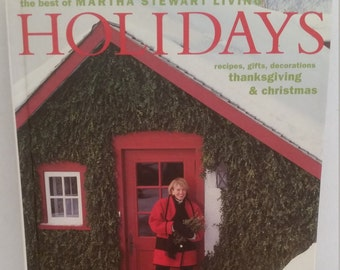 Vintage The Best of Martha Stewart Living Holidays Hardcover Recipe, Gift & Decor Book
