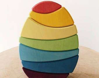 Stacking Egg Toy Rainbow