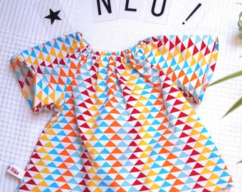 Baby blouse summer blouse for girls in 62/68 baby blouse summer blouse 3-6 month