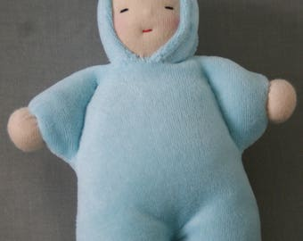 Little doll Waldorf - Artin blue