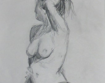 life drawing #41 - an original life drawing by professional figurative art Anita Dewitt