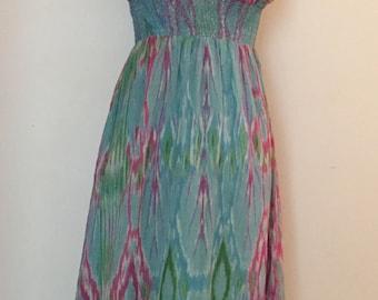 watercolour maxi dress