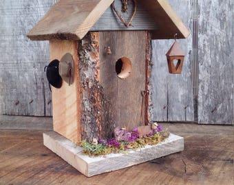Bridal Birdhouse Gift, Garden Wedding Gift, Anniversary Birdhouse Gift, Western Garden Décor, Rustic Birdhouse, Decorative Wood Birdhouse