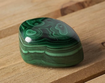 One Large Polished MALACHITE Stone - Tumbled Stones For Malachite Jewelry, Malachite Necklace, Pocket Stones, Healing Crystals E0154