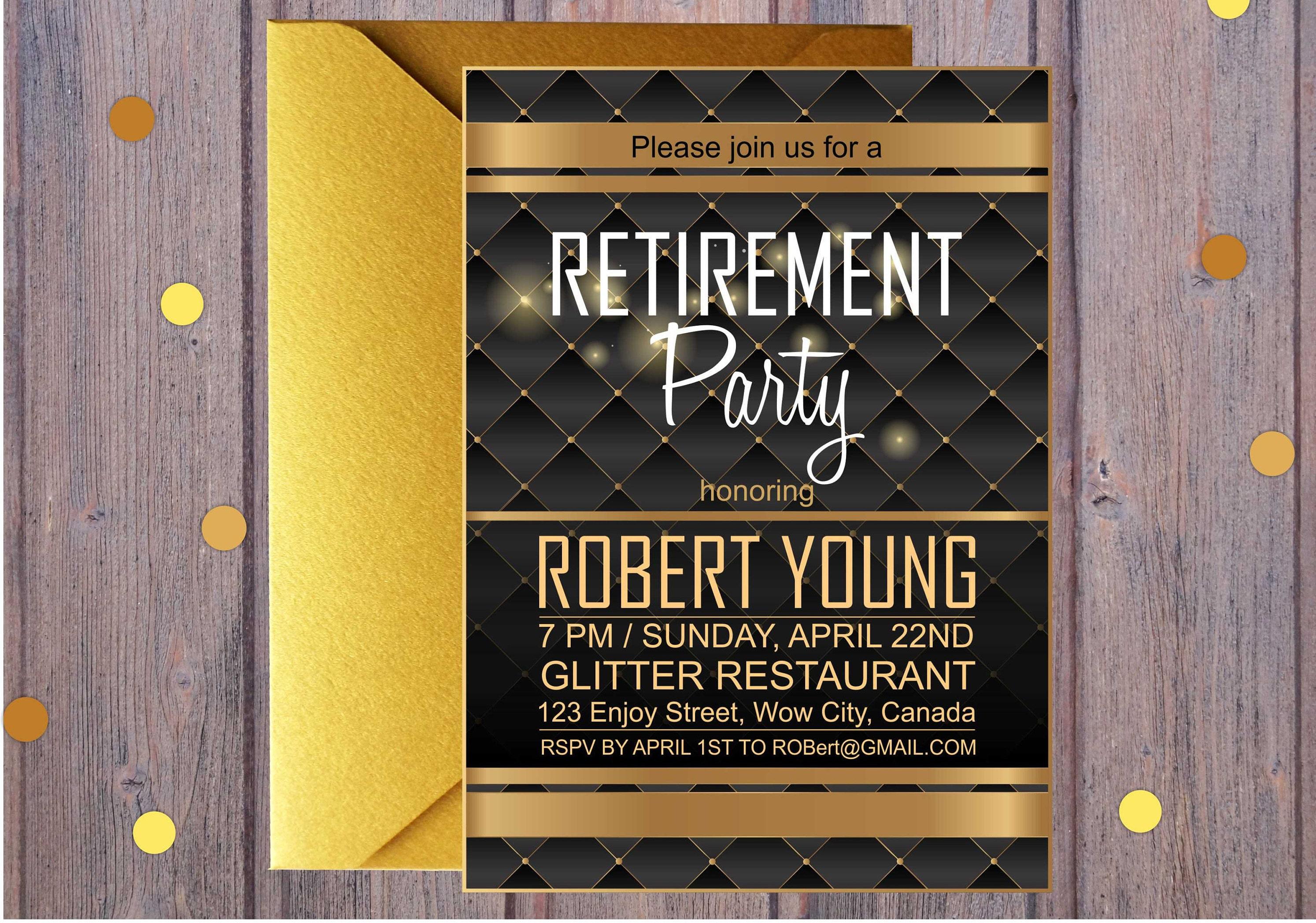 luxuriöse golden ruhestand einladung ruhestand party rsvp, Einladung
