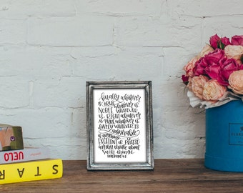 Philipians 4:8 Bible Verse Printable