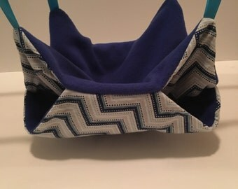 Blue Chevron 'Bunk Bed' Hammock