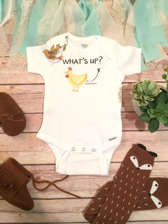 What S Up Chicken Butt Onesie 174 Baby Shower Gift Funny