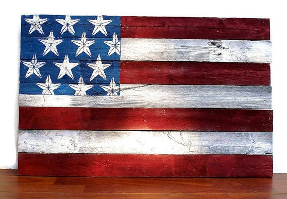 Stars And Stripes Forever Rustic Fence American Flag Wooden