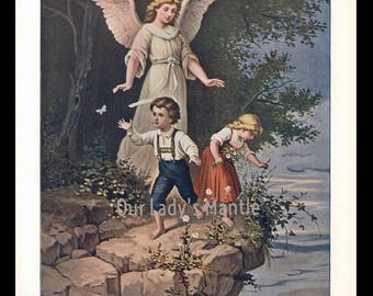 1906 Color Print - The Holy Guardian Angel