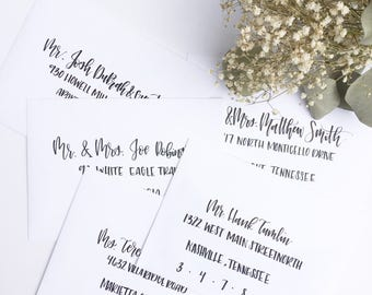Hand Written Envelope Addressing/ Wedding invitation/ Party Invitation/ Shower Invitation